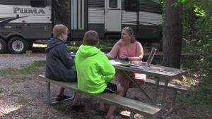 Virtual learning while camping