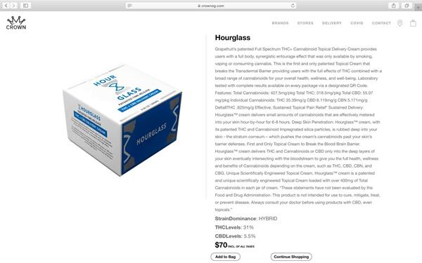 Grapefruit's patented Hourglass™ topical cream