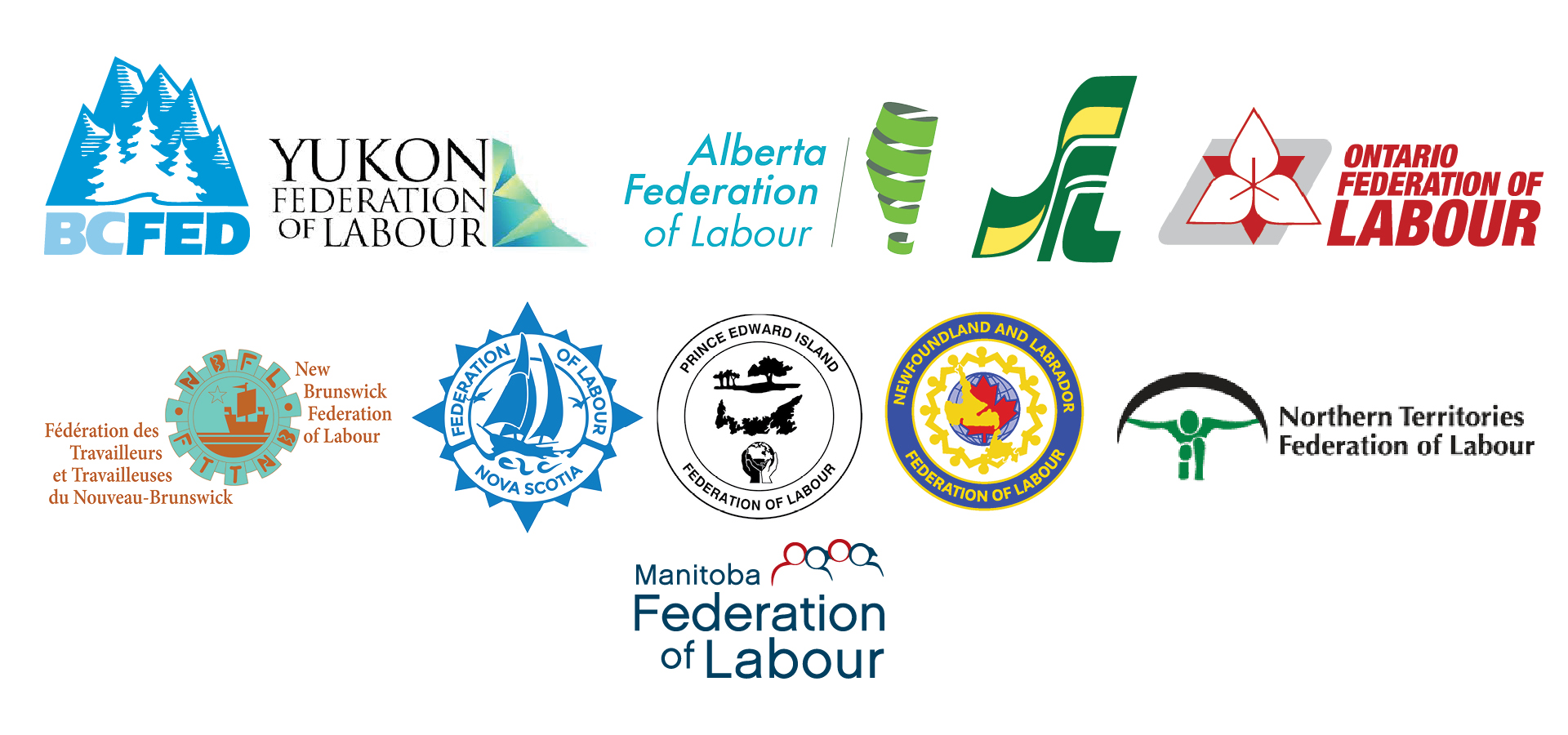Canada¡¯s provincial and territorial federations of labour