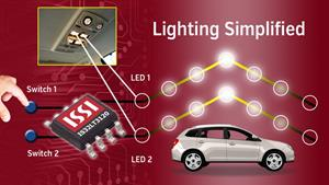 issi introduces led driver with integrated push button input and fade in fade out for automotive. Black Bedroom Furniture Sets. Home Design Ideas
