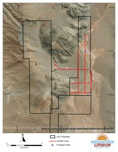 Antofalla Norte CSAMT Survey Lines and Proposed Drill Holes