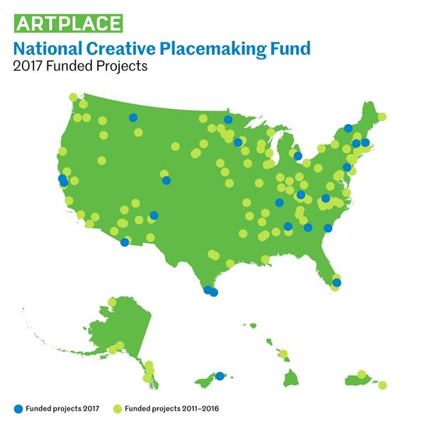 ArtPlace America's National Creative Placemaking Fund 2017 Funded Projects
