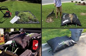 Leaf Burrito® eliminates tarps and plastic bags