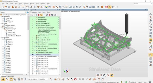 PolyWorks Metrology Suite Assisted Measurement Sequence Creation