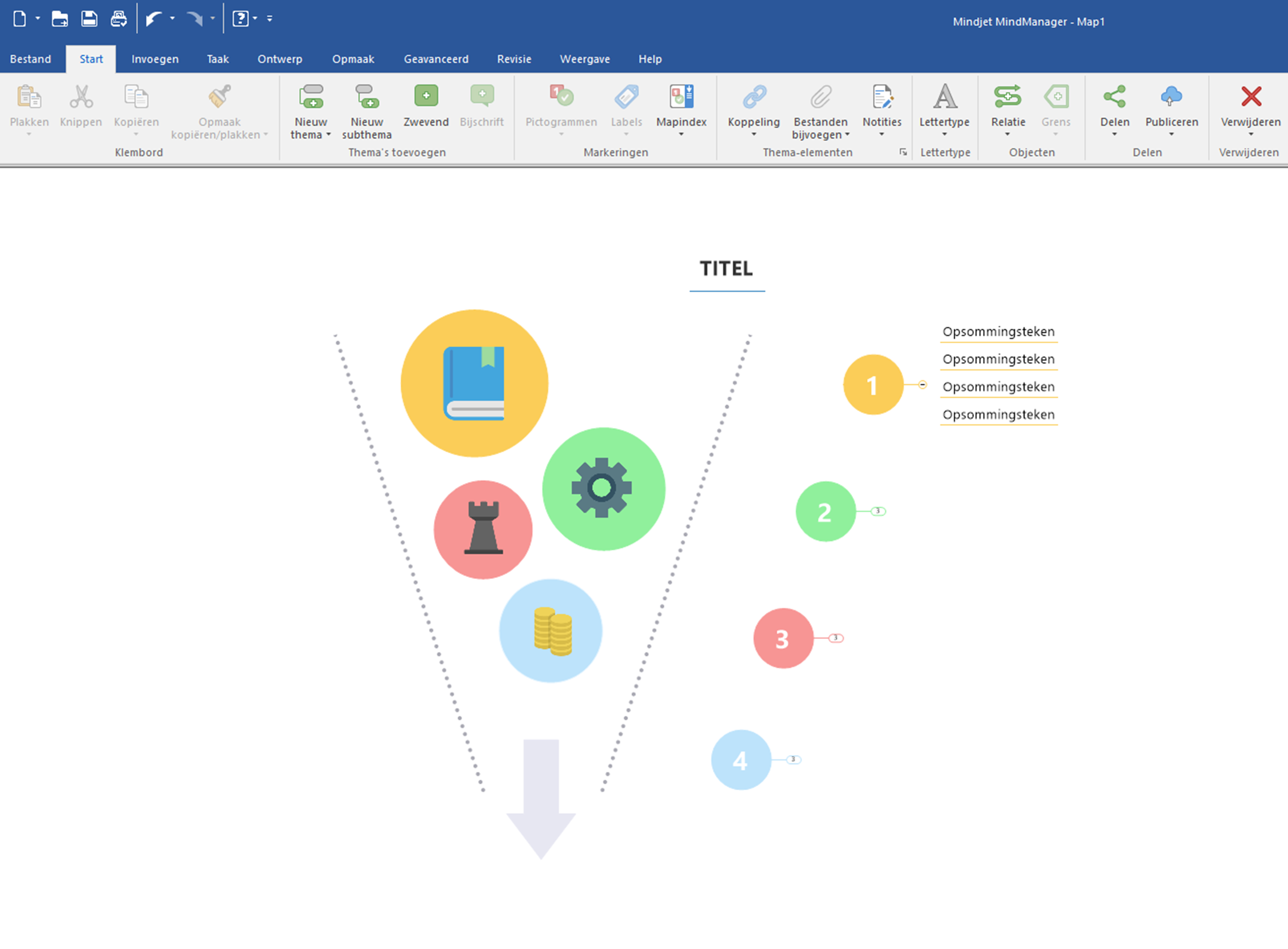 MindManager 2019 for Windows Dutch interface