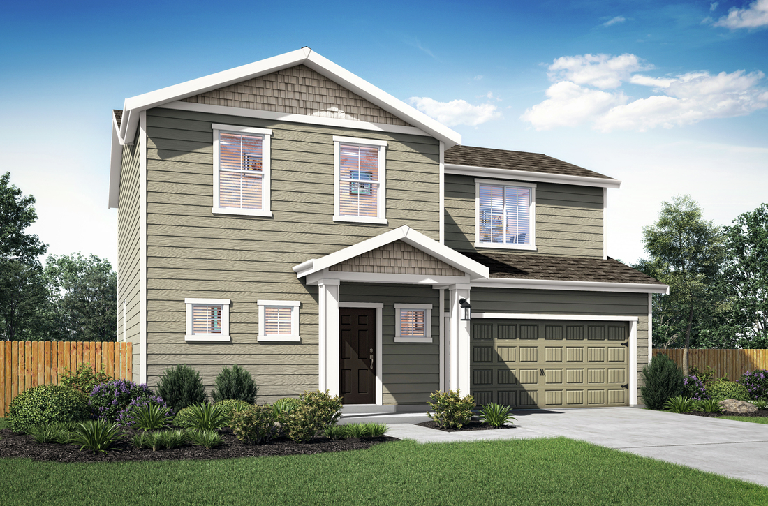 The Fox plan by LGI Homes at Cedar Hill Estates features 3 bedrooms, 2.5 baths, 1,800 square feet.