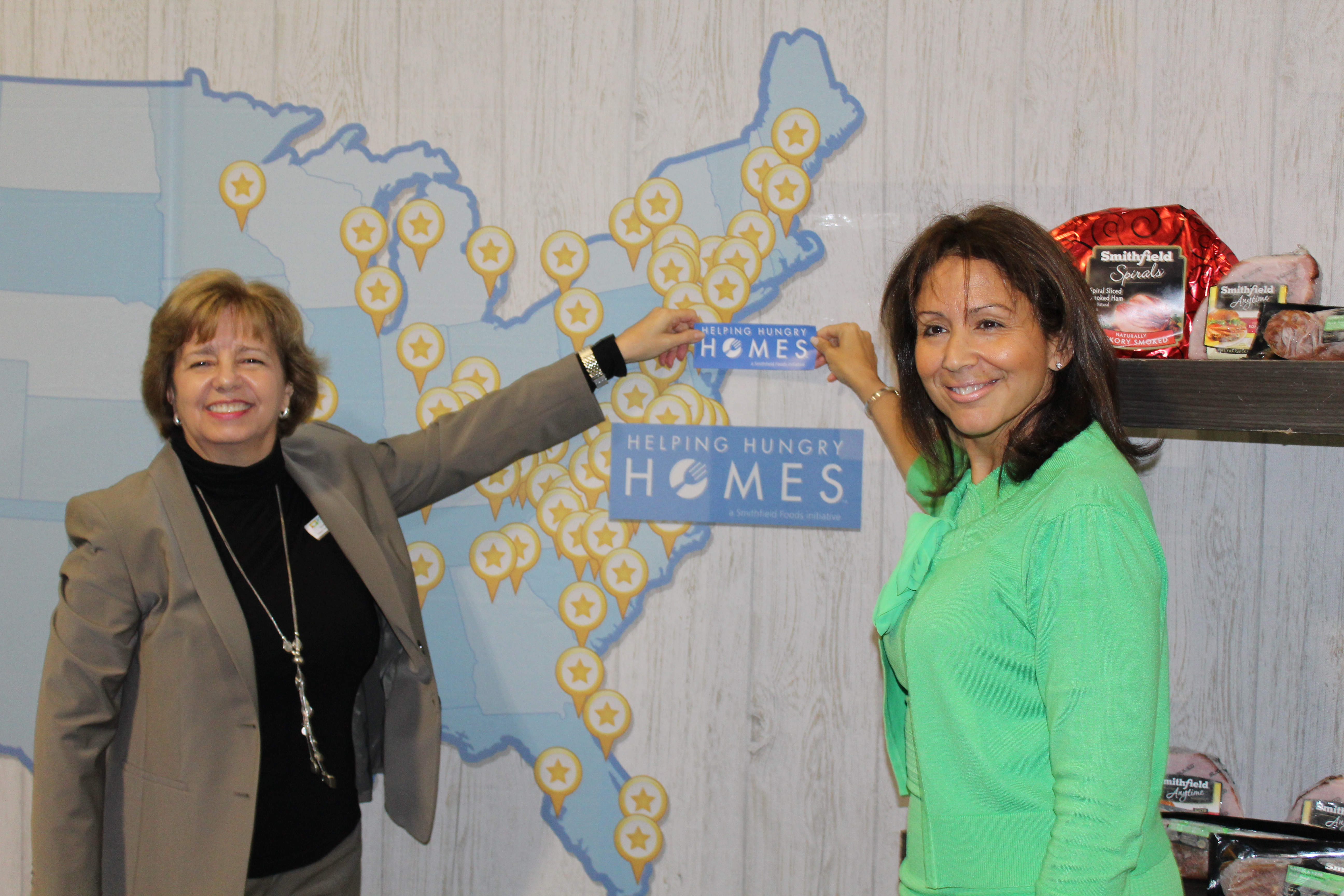 Christine Magyarits, ShopRite, and Debra Vizzi, Community FoodBank of New Jersey