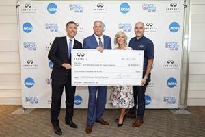 INFINITI donates more than $8 million to charity throughout NCAA partnership, over $1 million during 2018 season