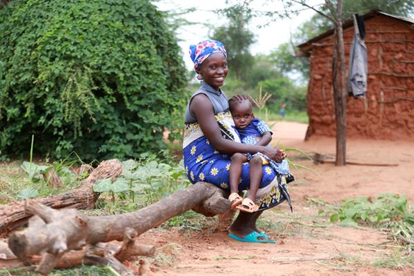 A mother in rural Kenya with her daughter in 2021.