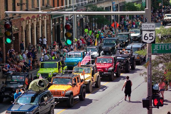 Toledo Jeep Fest's signature All-Jeep Parade.