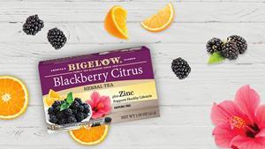 Announcing NEW Innovative Tea: Bigelow Tea Blackberry Citrus Herbal Tea with Zinc