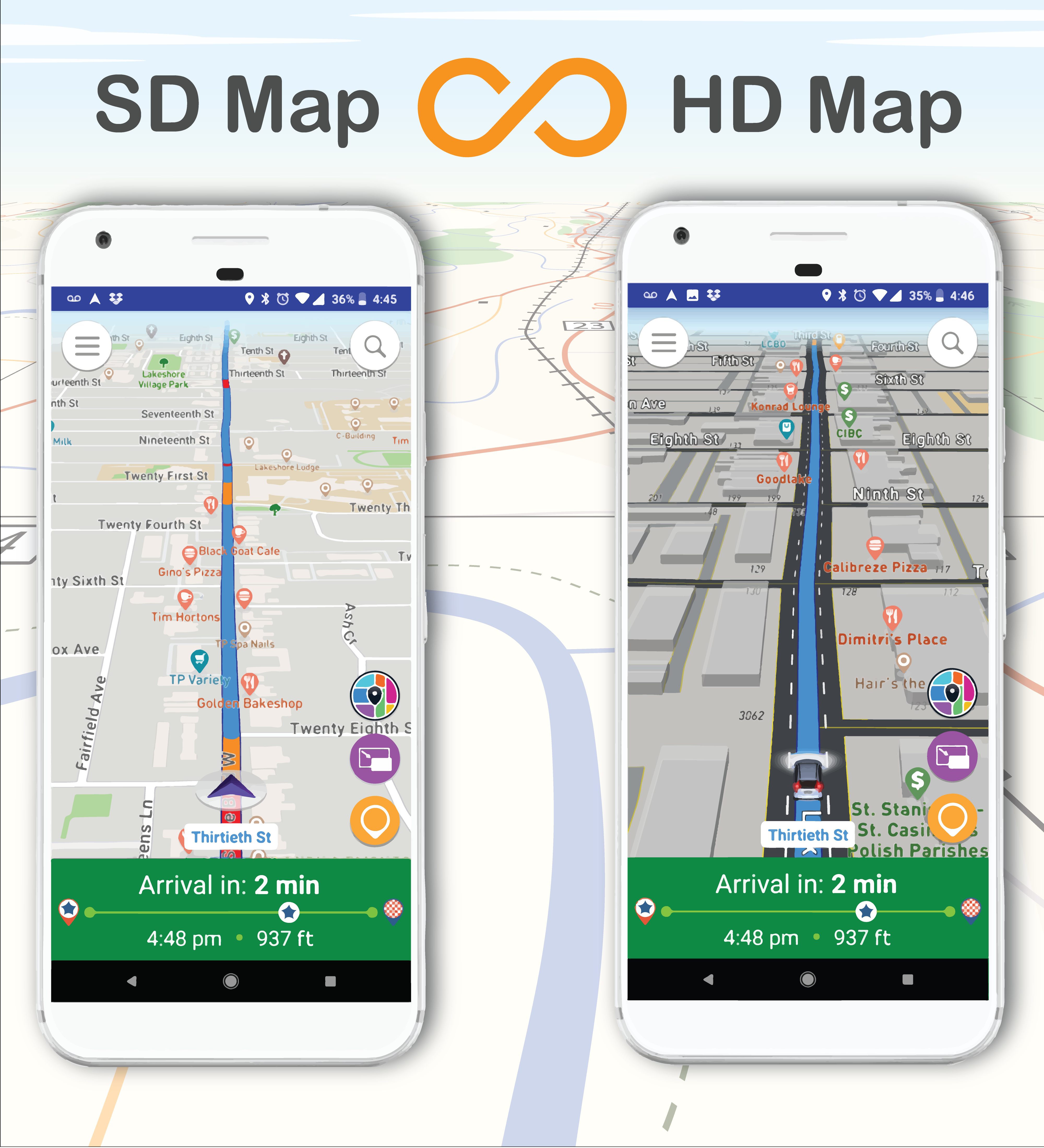 HD Map & SD Map