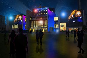 Cincinnati Freedom Center Projection Mapping Rendering