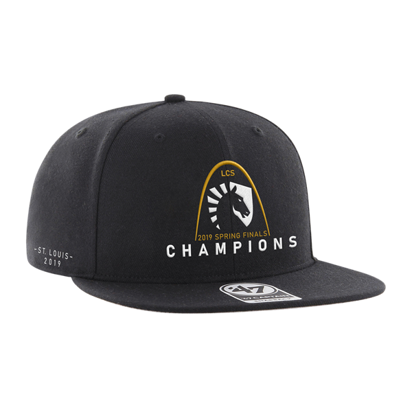 Team Liquid's LCS Spring Finals victory hat, produced by '47.