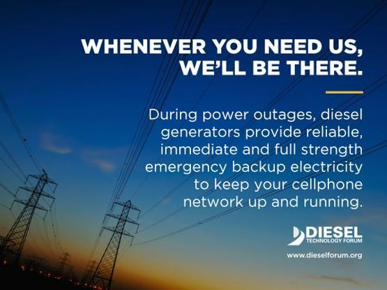 Diesel is a leading choice for emergency backup power. Mobile generators are integral for resiliency and recovery. The latest-generation diesel innovations are ready to provide mission critical services.