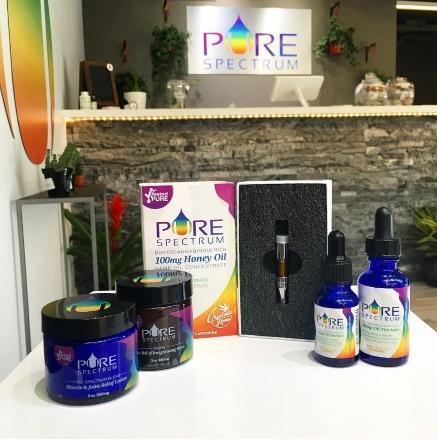 Made in the U.S.A. – Pure Spectrum CBD's phytocannabinoid-rich retail products.