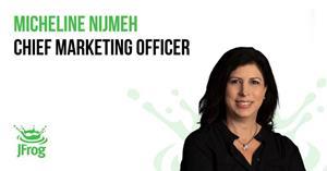 Micheline Nijmeh, Chief Marketing Officer of JFrog, the liquid software company