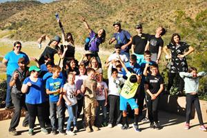 Prescott College Environmental Education students conducting class outside.