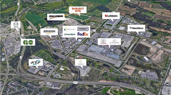 Cambridge Industrial Lands and surrounding tenants.