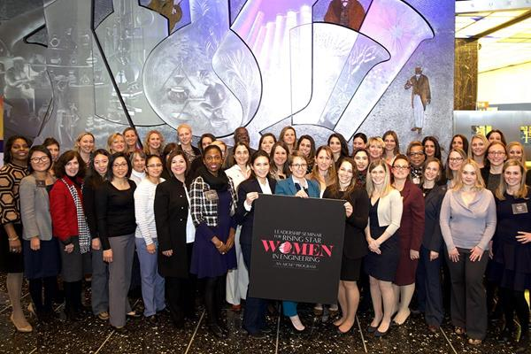 Dozens of women engineering executives and young professionals participated in AIChE's Workshop for Rising Star Women in Engineering, December 11, 2018, in New York City. Photo credit: Sonja Bradfield