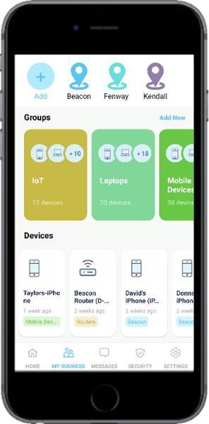 Allot BusinessSecure mobile management app
