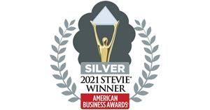 Silver Stevie(R) Award Badge from the American Business Awards(R) for Deem's Travel SafetyCheck feature in the Etta business travel booking and management platform.