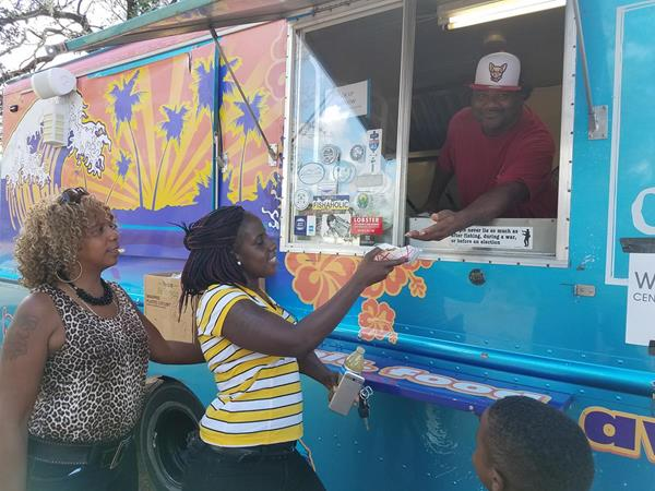 Support the Port hosts celebrated Chef Keith Rhodes as he serves Hurricane Florence survivors from his Catch food truck.