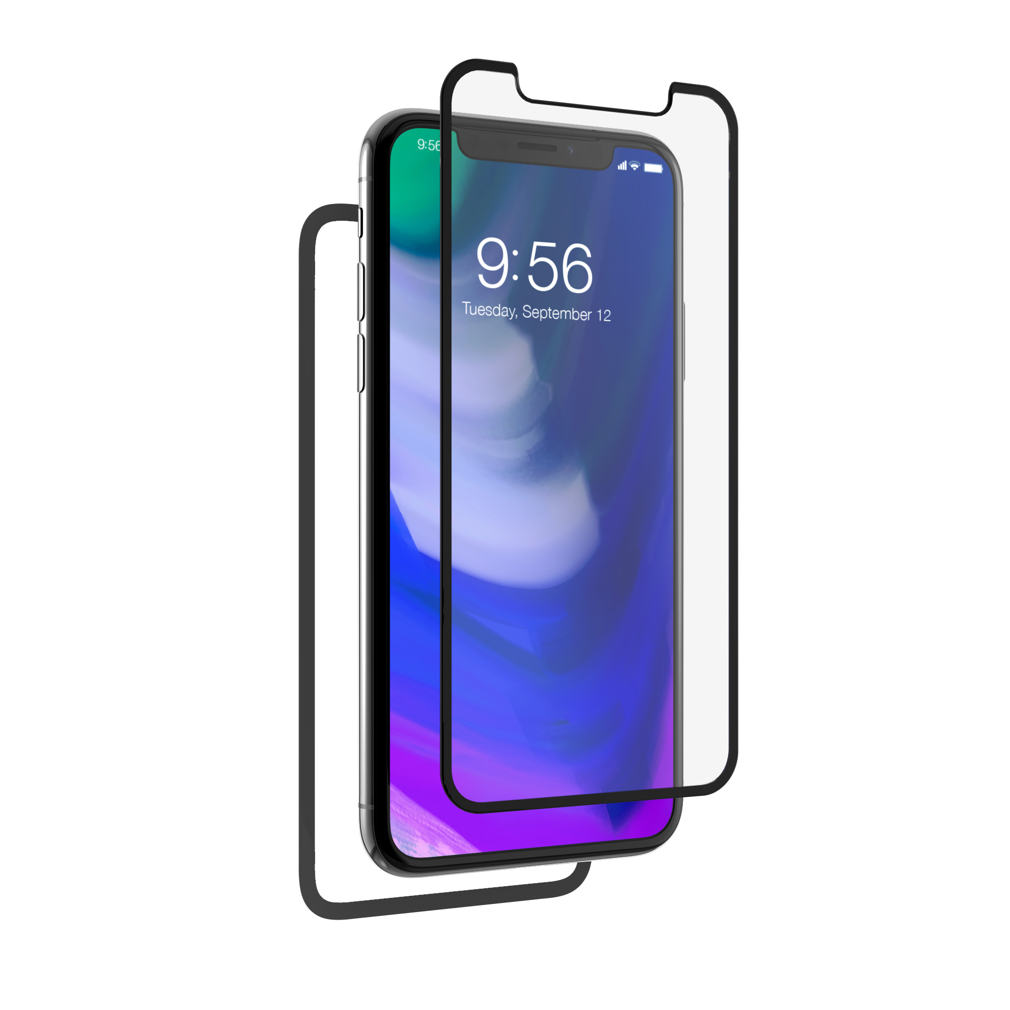InvisibleShield Glass+ Luxe 360_iPhoneX_Gray_HERO