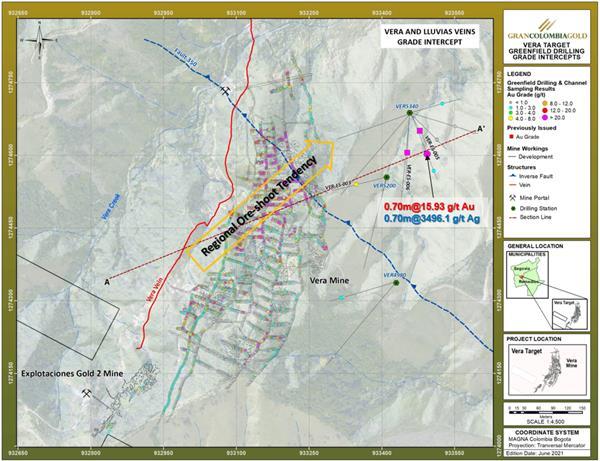 Attachment 8 – Vera Project Drilling Grade Intercepts