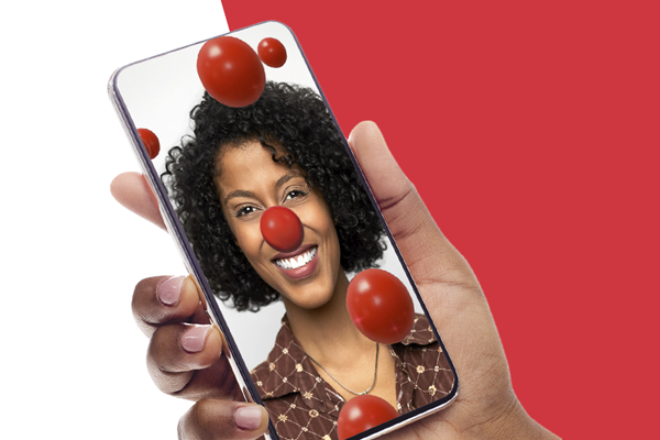A digital version of the iconic Red Nose can be unlocked with a donation at NosesOn.com