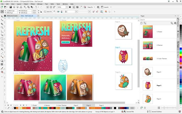 CorelDRAW Graphics Suite 2021 for Windows - Multipage View