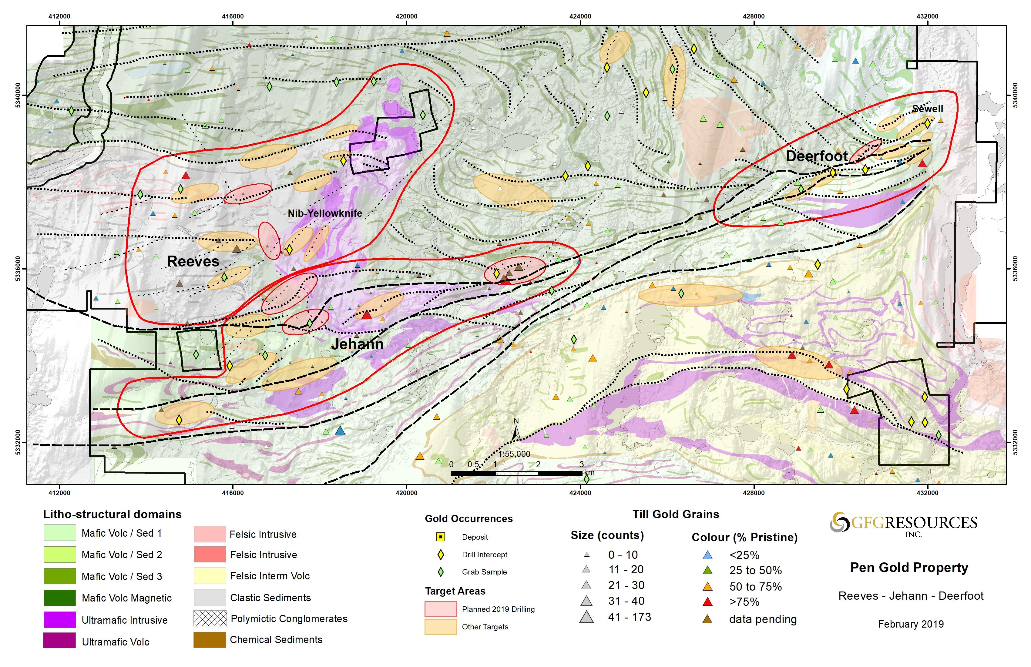 Figure 2: Reeves, Jehann & Deerfoot Drill Target Map