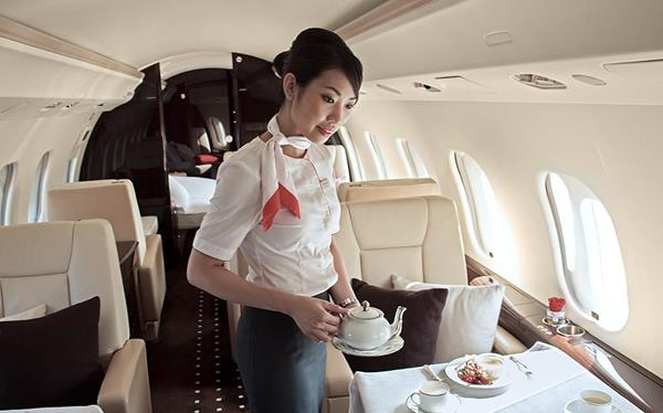 Cabin Hostess in service 1