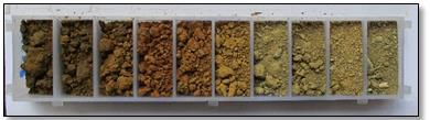 Fig. 6: Chip tray used to store geo-chemical samples.