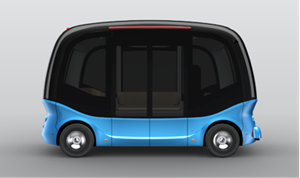 The image of an autonomous driving bus prototype to be launched by Baidu and King Long in 2018.