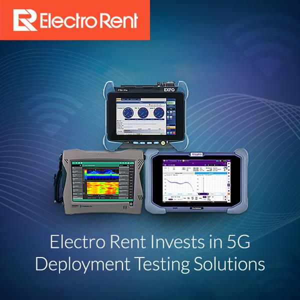 Electro Rent offers a wide range of 5G Deployment Test Equipment. From solutions for wireless and wireline testing, with specific application focus to help support fiber optic installation, drive test, cell site support, 5G networks and more.