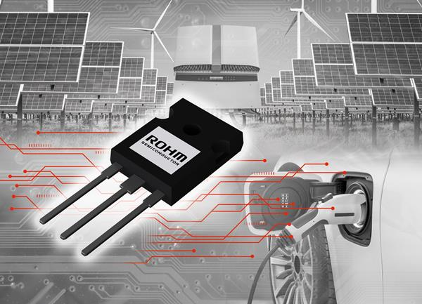 ROHM's new RGWxx65C series of hybrid IGBTs with an integrated 650V SiC Schottky barrier diode