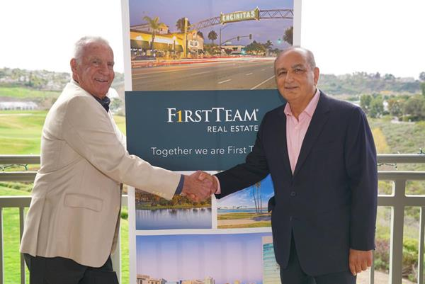 First Team and Sea Coast Exclusive Properties Merger. (R to L) Mike Evans and Cameron Merage