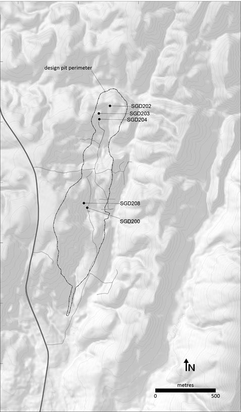 Figure 2: Location Plan showing reported holes