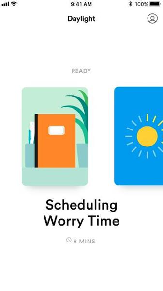 Big Health's Daylight - Schedule Worry Time