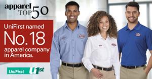 UniFirst Earns No. 18 Spot on Apparel Magazine's Annual Top Apparel Companies List