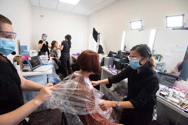COVID precautions at film shoots