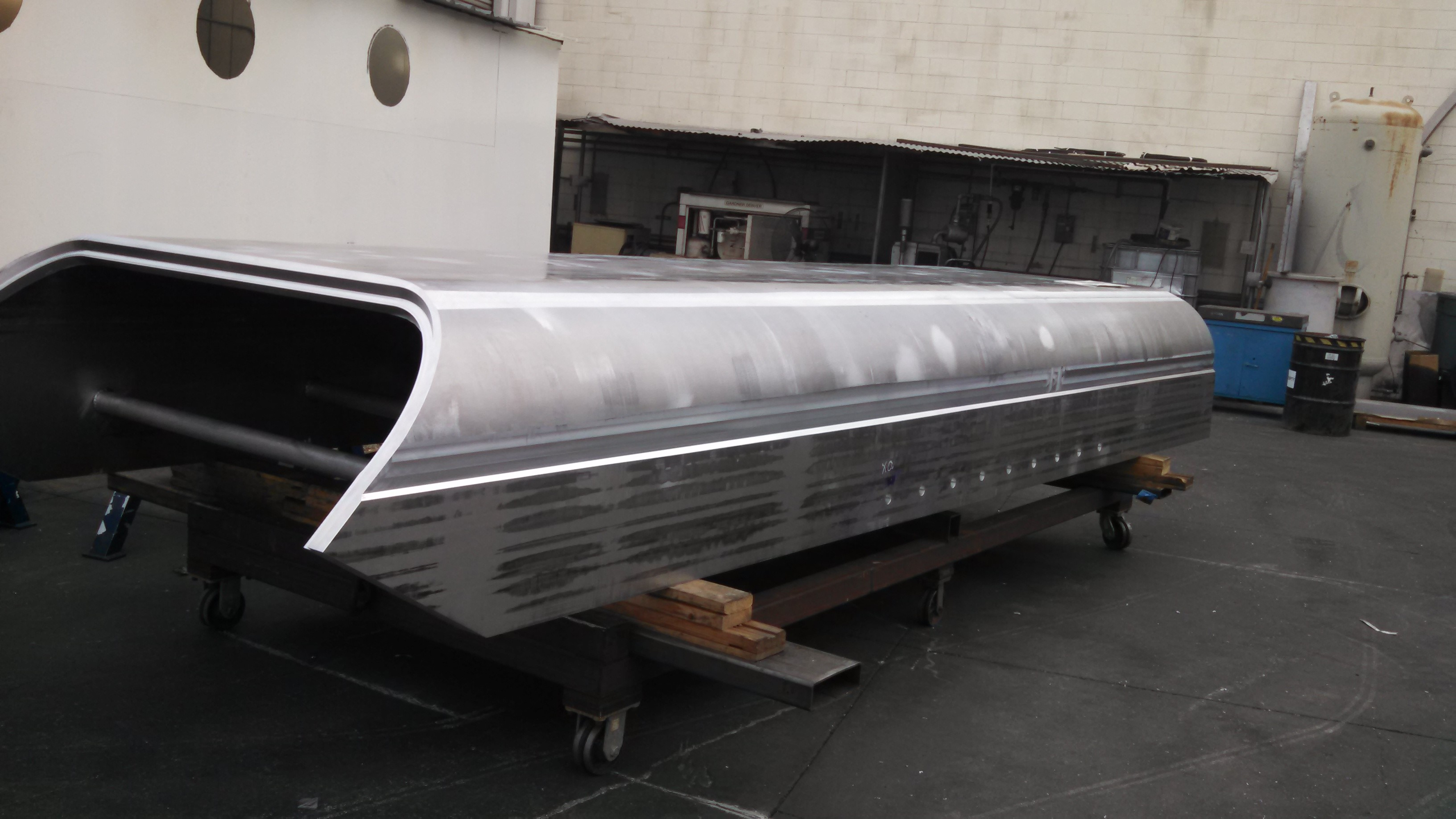 Finished formed and machined hull