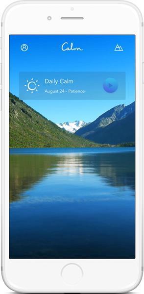 Calm App Home Screen