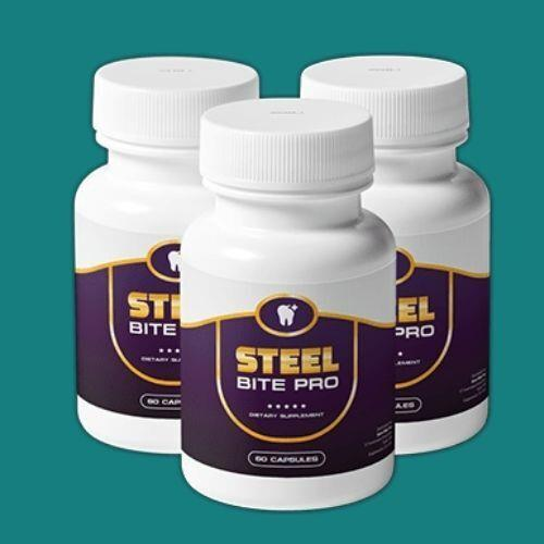 Steel Bite Pro is a dental supplement that reduces the risk of oral infections, breaks existing plaque and tartar, tightens loose gums, heal wounds, and cements the teeth roots.