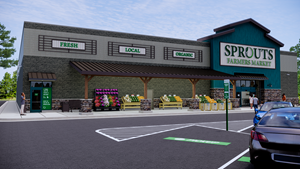 Sprouts Exterior Rendering