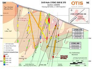 Drill Hole 17OKC-368 & 370