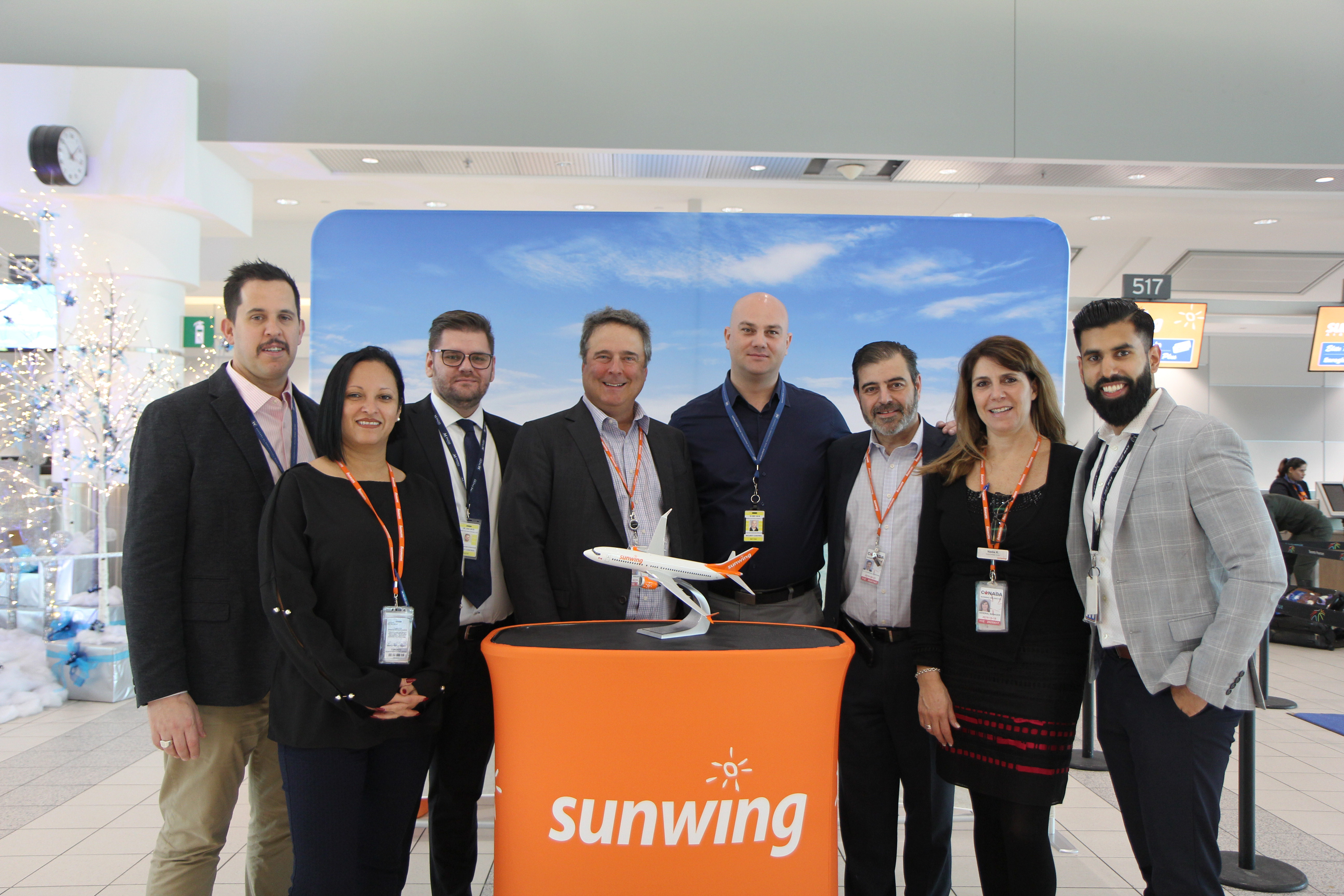 Sunwing et Menzies Aviation