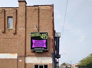 Daktronics digital advertising display in Chicago