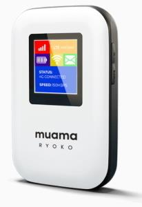 The Muama Ryoko is a mobile 4G WIFI router for a secure connection that does not need to be connected to a stationary router but provides a secure connection to the Internet itself via a SIM card.